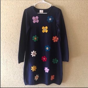 HANNA ANDERSSON Retro Floral Sweater Dress